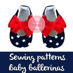 Baby shoes patterns, ballerina digital patterns, pdf patterns ,girl shoes, maternity gift, pregnancy, kids patternss, children patterns by KidsSewingPatterns on Etsy
