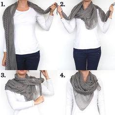 Dica para começar a terça-feira: apostar em um lenço/echarpe! Além de deixar o look elegante, esquenta nesse friozinho! Quem ai AMA?! BOM DIA!!! ❤️✨✨❤️
