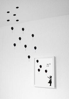 Über das Bild hinaus - kreative Wanddekoration, Wände gestalten / Artprint - Wandsticker