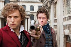 I had to do a double take when I saw this. IT'S JUST SO FUNNY. Enjolras and Marius faceswap. XD