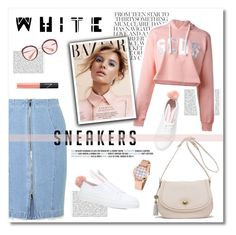 """white sneakers"" by limass ❤ liked on Polyvore featuring Waterlily LA, Minna Parikka, GCDS, Steve J & Yoni P, Miu Miu, NARS Cosmetics and whitesneakers"