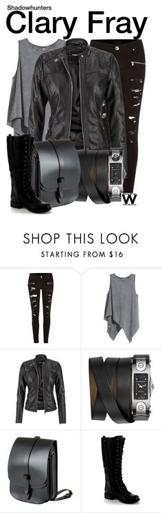 """""""Shadowhunters"""" by wearwhatyouwatch ❤ liked on Polyvore featuring River Island, H&M, maurices, Givenchy, Lost Property of London, Nature Breeze, television and wearwhatyouwatch"""