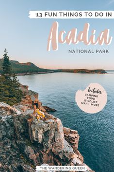 Click HERE to find out what the 13 Fun Things To Do In Acadia National Park are! This post includes hiking, photography spots, must see spots, lodging, camping, Bar Harbor, Cadillac Mountain, Bass Harbor Lighthouse, lobster, sunrise and sunset views and much more! Acadia is located in Maine United States.