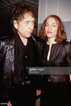 Singer/songwriter Bob Dylan and singer Madonna.