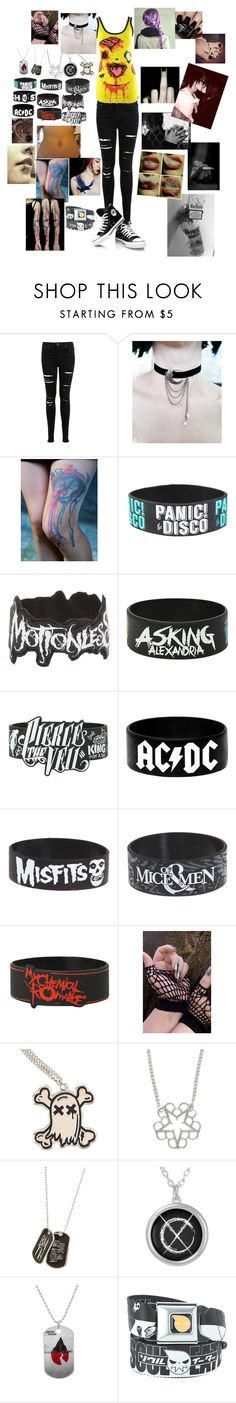 """Not The American Average-Asking Alexandria"" by leia-albin ❤ liked on Polyvore featuring Miss Selfridge and Nails Inc."