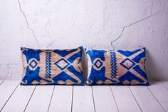 handmade ikat velvet pillow cover  SET of 2  1496 x 2224  by YASTK, $125.00