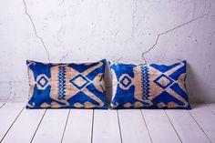 handmade ikat velvet pillow cover  SET of 2  1496 x 2224  by YASTK, $125.00