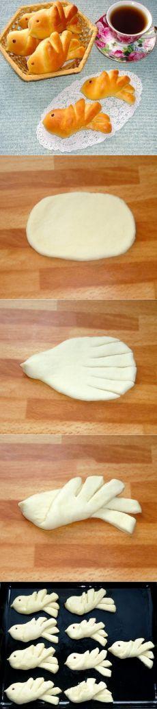 Como preparar los panecillos las alondras - la receta, ingridienty y la fotografía // Лариса Дрюкова Challa Bread, Pizza Yeast, Bread Recipes, Cookie Recipes, Bread Shaping, Artisan Bread, Desert Recipes, Kids Meals, Sweet Recipes