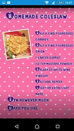 Savoury coleslaw Slimming World Dinners, Slimming World Recipes Syn Free, Slimming World Syns, Slimming Eats, Skinny Recipes, Diet Recipes, Recipies, Healthy Recipes, Slimmers World Recipes