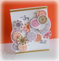 Card by Amber Hight using Peaceful Medallions (releasing 7/11/14 from Verve.) #vervestamps