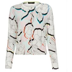 Paul Smith 'Miami Beach Multi-Floral' Cotton Cardigan ($180) ❤ liked on Polyvore