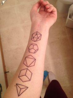 The Platonic Solids Done by Casper Mugridge at Showdown Tattoo...
