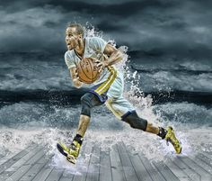 Download Stephen Curry Splash wallpapers in high definition resolution and set as a desktop background for PC, computer and all major mobile platforms.