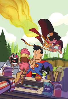 DC July Variant Covers: Teen Titans Go! | Comic Books and Cats