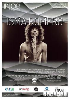31Canciones presenta a ISMA ROMERO en Sala Nice (Ciudad Real)