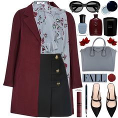 Fall / Autumn ★ Top Set by mylkbar on Polyvore featuring polyvore, fashion, style, Valentino, Yves Saint Laurent, Givenchy, Acne Studios, Clé de Peau Beauté, NYX and Christian Dior