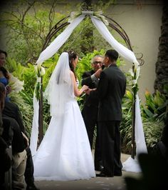 A nice, simple archway for the ceremony would create a nice focal point.