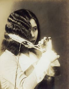 I love finger waves - I cheat & do them with an electric iron, much like pictured here :)