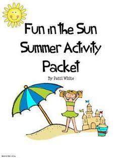 Fun in the Sun Summer Actiivity Packet
