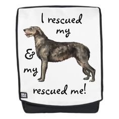 Rescue Irish Wolfhound Backpack   happy pug, christmas gifts sets, pug phone case #secretsanta #Rescue #buyhandmade Irish Wolfhound Rescue, Cute Puppies Golden Retriever, Cute Puppies For Sale, Art Beagle, French Bulldog Names, Happy Pug, Pug Tattoo, Corso Dog, Cute Puppy Breeds