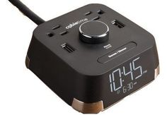 CubieTime Alarm Clock Charger w/ 2 USB Ports and 2 Outlets Charging Station Brandstand Products http://www.amazon.com/dp/B0178ECW6A/ref=cm_sw_r_pi_dp_FAe3wb09RCFDZ