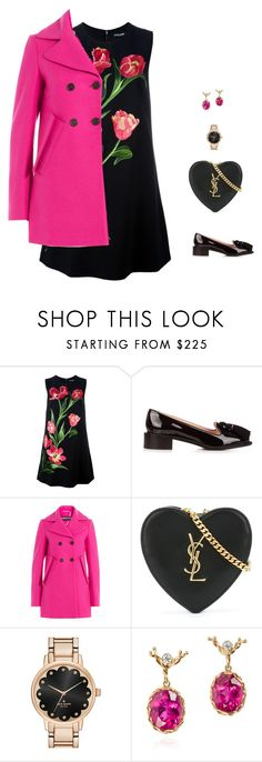 """dark"" by candynena228 ❤ liked on Polyvore featuring Dolce&Gabbana, Rochas, Yves Saint Laurent, Kate Spade and Dean Harris"