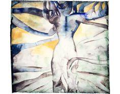 FRANCESCO CLEMENTE | 1090's SEX-SPIRIT Tree  1993  Watercolor on paper  44 1/4 x 46 in  112.4 x 116.8 cm