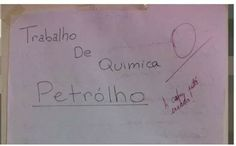 Um trabalho de química sobre o Petrólho.