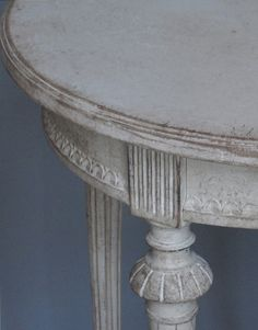Gustavian Style - A Higher End looking Swedish style (vs Scandinavian Country Style). Gustavian Occasional Table detail