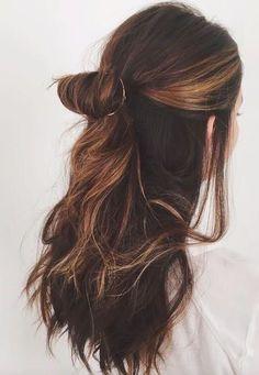 Hair hair styles hair color hair cuts hair color ideas for brunettes hair color ideas Messy Hairstyles, Pretty Hairstyles, Wedding Hairstyles, Everyday Hairstyles, Long Brown Hairstyles, Toddler Hairstyles, Long Haircuts, Updo Hairstyle, Twisted Hair