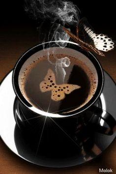 Чашечка ароматного кофе... - анимация на телефон №1393878
