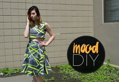 Mood DIY: How to Sew a Neoprene Skater Skirt and Crop Top