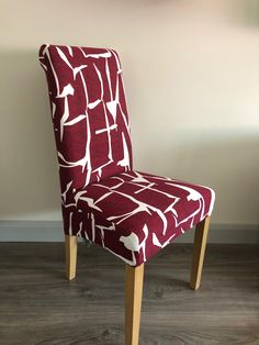 Red Abstract Pattern Chair Cover (New) Dining Chair Covers, Dining Chairs, Patterned Chair, Abstract Pattern, Accent Chairs, Medium, Red, Furniture, Home Decor
