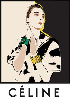 Modeconnect.com - Anastasia Buchinskaya Celine Spring 2014 Fashion Illustration