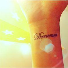 2pcs DREAMER tattoo  InknArt Temporary Tattoo  pack by InknArt, $3.99