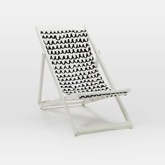 Sling Chair - Black/White - West Elm - on sale $79