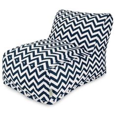 Home Navy Chevron Bean Bag Chair Lounger (€115) ❤ liked on Polyvore featuring home, furniture, chairs, navy bean bag chair, navy chair, contemporary chairs, navy bean bag and navy blue chair