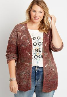 Plus Size Hairstyles, Maurices Plus Size, Plus Size Cardigans, Size Zero, Open Front Cardigan, Plus Size Outfits, Plus Size Fashion, Stitch Patterns, Cute Outfits