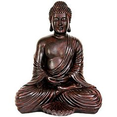 @Overstock - Sitting in meditation, this beautifully handcrafted Gautama Buddha, the Bodhisattva, will ad peace and tranquility to any space. This statue of Buddha is seen sitting in the lotus position in meditation.http://www.overstock.com/Worldstock-Fair-Trade/Large-17-inch-Japanese-Sitting-Buddha-Statue-China/5079604/product.html?CID=214117 $69.99