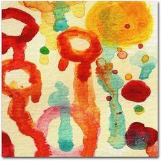 Trademark Fine Art Circle Encounters 7 inch Canvas Art by Amy Vangsgard, Size: 18 x 18, Multicolor
