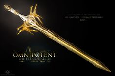 Omnipotent, The Eternal Alpha by Wayanoru on DeviantArt Ninja Weapons, Anime Weapons, Sci Fi Weapons, Armor Concept, Weapon Concept Art, Fantasy Sword, Fantasy Weapons, Swords And Daggers, Knives And Swords