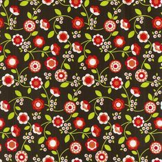Bright Buds (Berry) fabric from Diane Kappa's Bonjour. collection