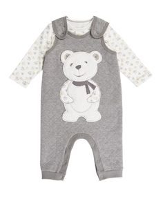 Teddy Dungarees Set