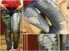 Как сделать Рваные джинсы♥♥♥ - YouTube