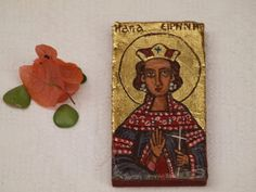 St. Irene Great Martyr of Thessalonica Miniature by angelicon, €15.00