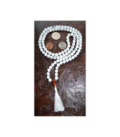 108 Howlite Carnelian Handmade Mala Beads Necklace Blessed E   eBay