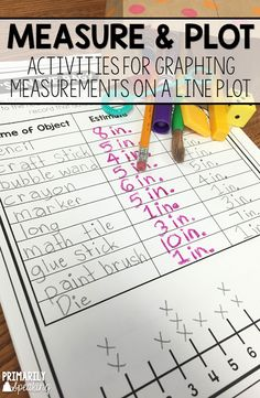 Lots of line plot activities in this post. Graphing measurements on a line plot made fun!  Plus a great tip about making estimations.