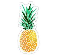 Artsy Pineapple Sticker