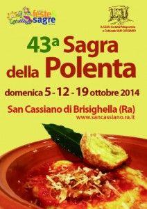 43° Sagra della Polenta di San Cassiano di Brisighella http://www.sagreromagnole.it/?p=4361
