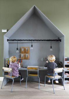 Interior Design Scandinavian kids playroom - 10 Fun Friendly Kids Playrooms Part 3 Kids Corner, Kids Workspace, Casa Kids, Scandinavian Kids, Deco Kids, Kids Room Design, Playroom Design, Playroom Decor, Kid Spaces